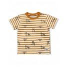 Mosterdgele gestreepte t-shirt met tijgers - Yellow ochre