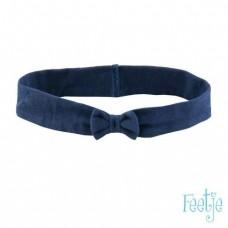 Blauwe haarband small met strikje - classic girls marine