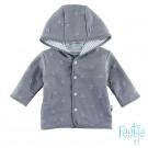 Grijs omkeerbaar vestje met sterretjes / strepen - reversible jacket stars/stripes grey - maat 62 (Geboortelijst Minne H.)