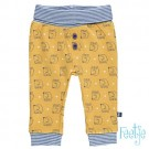 Mosterdgeel broekje met olifantjes - yellow melange - maat 62 (Geboortelijst Finn D.B.)