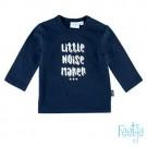 Donkerblauwe t-shirt - little noise maker +++ - maat 56 (Geboortelijst Röy V.z.)