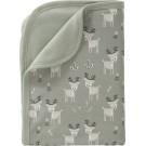 Deken met hertjes grijsgroen - blanket deer ash green