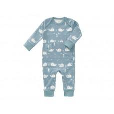 Pyjama met walvisjes- blauw