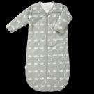 Grijze slaapzak met afritsbare mouwen met walvisjes - sleeping bag 90cm