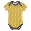 Body korte mouw met haverprint - maat 6-12 maand  (Geboortelijst Marie V.)