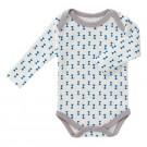 Body lange mouw met blauwe strikjes -fest kobalt - maat 0-3 maand (Geboortelijst Joa v.G.)