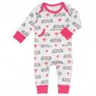 Pyjama met olifantjes- roze - maat 3-6 maand (Geboortelijst Julie D.V.)