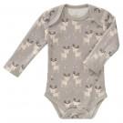 Body lange mouw met hertjes- deer ash grey - maat 3-6 maand (Geboortelijst Julie D.V.)