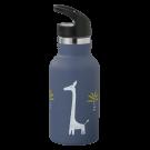 Blauwe drinkbus met giraffen - Nordic flask giraf