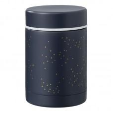 Food jar - Indigo dots