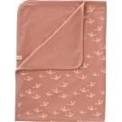 Roos deken met vogeltjes - blanket birds