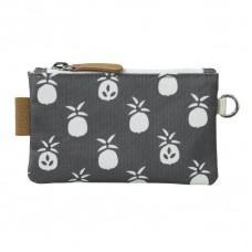Portemonnee zwart met ananassen - wallet pineapple