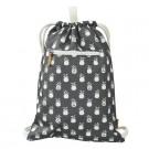 Zwem-en turnzak zwart met ananasjes - swimming bag pineapple (Geboortelijst Lina C.)