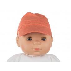 Oranje petje - stripes xs poppy bamboo : maat 6 tot 12 maanden