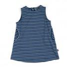 Blauw- wit gestreept kleed - dress emily blue - maat 62-68 (Geboortelijst Fran S.)