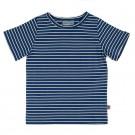 Blauw met wit gestreepte t-shirt - Shirt baas blue stripes