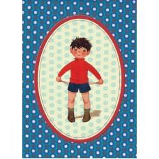 Postkaart jongen - platzak