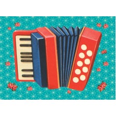 Postkaart accordeon