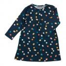 Kleedje Rosana blauw met kleurrijke stipjes - dress Rosana confetti (stapelkorting)