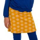Donkergeel rokje met cirkels - Skirt enia