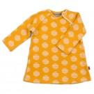 Geel jacquard kleedje met circels - dress Mara circle - maat 62-68 (Geboortelijst Lina C.)