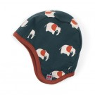 Omkeerbaar flappenmuts met olifantjes-  hat elephant