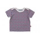 Baby t-shirt met ruitjesmotief - shirt Theo square jersey - maat 62-68 (Geboortelijst Mon D.W.)