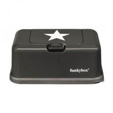 Funkybox antraciet met zilveren ster - groot