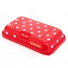Funkybox rood met witte stippen - klein