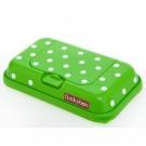 Funkybox groen met witte stippen - klein