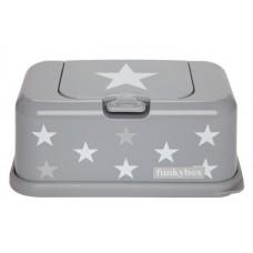 Funkybox grijs met witte ster - groot
