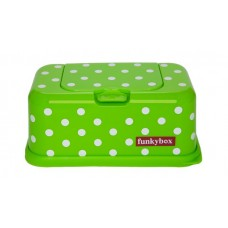 Funkybox groen met witte stippen - groot