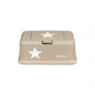 Funkybox beige met witte ster - groot