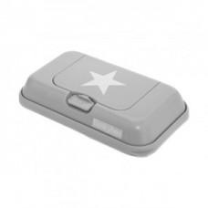 Funkybox grijs met witte ster - klein