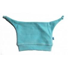 Pinnemutsje turquoise-blauw velours