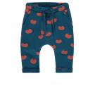 Blauwe broek met tomaatjes - Majolica blue regular fit pants belmont