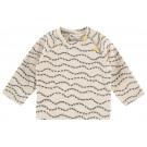 Beige t-shirt met mieren - Light grey melange regular t-shirt krugerville