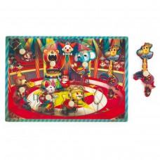 Muzikale knoppuzzel het circus Zapatta