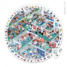 Ronde puzzel in koffer : de spoeddienst- 208stuks (Geboortelijst Minne H.)