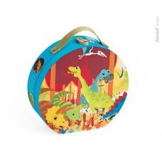 24- delige puzzel dinosaurus  in opbergkoffer