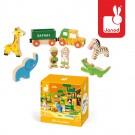 8- delig doosjes met houten safari figuurtjes  (Geboortelijst Ellis B.)