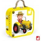 Koffer met 4 puzzels : de tractor van Peter