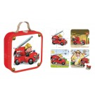 Koffer met 4 puzzels : de brandweer Leon