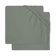 Set van 2 groene hoeslakens voor ledikant - Ash green