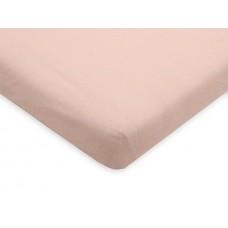 Roos hoeslaken voor parkmatras - pale pink