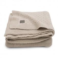 Beige gebreid ledikantdeken met structuur - Blanket bliss nougat