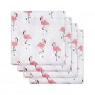 Set van 4 tetradoeken : flamingo's