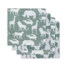 Set van 4 tetradoeken : safari forest green