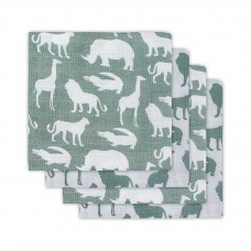 Set van 4 tetradoeken : safari forest green