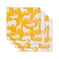 Set van 4 tetradoeken : safari forest ocher